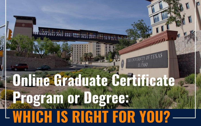 Graduate Certificate Program or Degree: Which is Right for You?