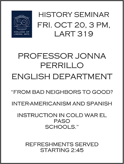 History Seminar From Bad Neighbors To Good Inter Americanism And