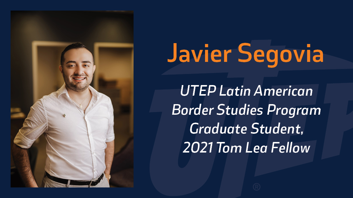 Javier Segovia, a graduate student at The University of Texas at El Paso, will study the friendship and artistic relationship between great 20th Century artists with El Paso connections Tom Lea and Urbici Soler as part of his recently announced Tom Lea Fellowship. Photo: Courtesy of Javier Segovia