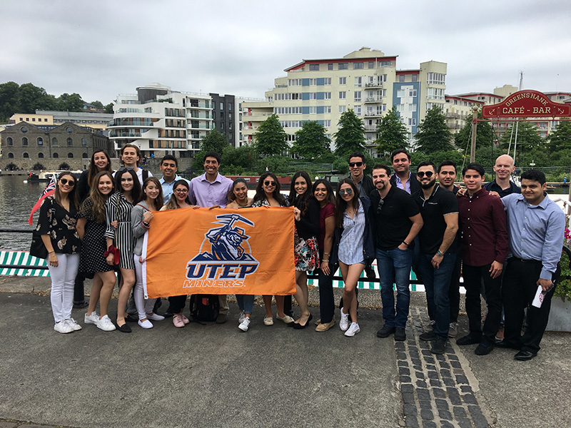 UTEP College of Business Administration undergraduate students traveled to Bristol, England for a weeklong study abroad experience. The college's efforts to make these opportunities accessible to students of various socioeconomic backgrounds were honored by the Southwestern Business Deans' Association at their annual meeting on June 9-11, 2019. Courtesy photo
