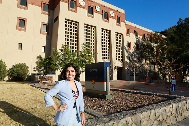 Recent UTEP graduate Aylin Duarte said she looked forward to her eight-month assignment in Argentina as a Fulbright U.S. Student Program English Teaching Assistant. She called this opportunity her next step to greater things. Photo: Laura Trejo / UTEP Communications