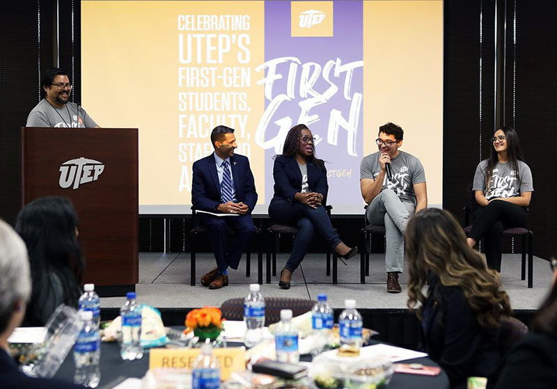 The University of Texas at El Paso has been named to the 2020-21 cohort of First-gen Forward Institutions by the Center for First-generation Student Success. UTEP has previously celebrated the achievements of its first-generation students as part of the national 2019 First-Generation College Celebration on Nov. 8, 2019 in Union Building East. Photo: University Communications