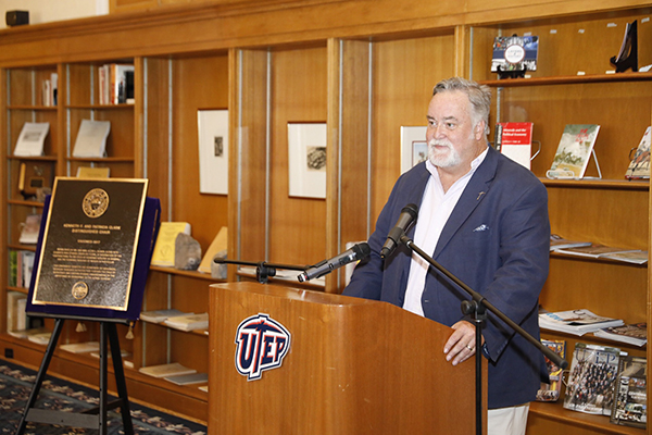 UTEP alumnus Allen L. Gilmer,  Kenneth F. and Patricia Clark Distinguished Chair Endowment