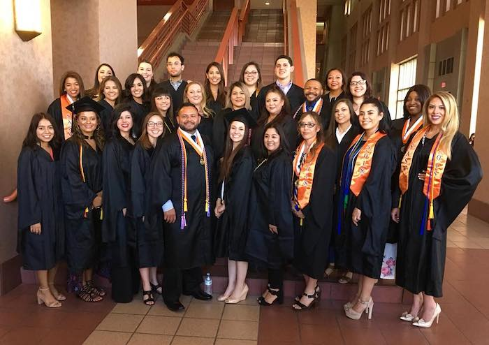UTEP's Master of Social Work (MSW) program has been ranked No. 2 for best graduate social work program in Texas by SocialWorkDegree.org. Photo of 2018 MSW graduates courtesy of the Department of Social Work.