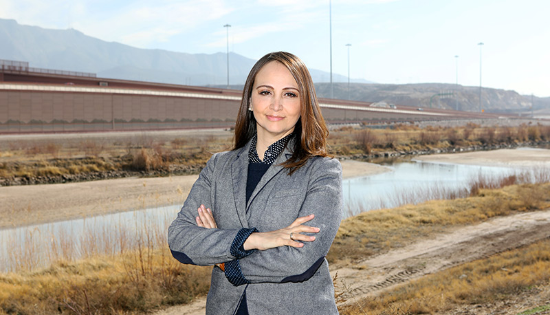 Maria Fuentes is a student in UTEP's Interdisciplinary Health Sciences Ph.D. Program. She participated in a study that looked at antibiotic resistance in Rio Grande. Photo: Laura Trejo/UTEP Communications