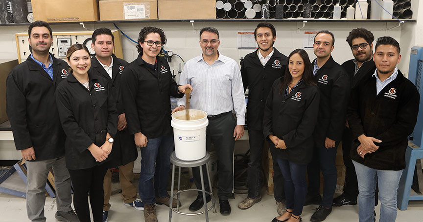 The University of Texas at El Paso's Department of Civil Engineering received an award from NASA's Johnson's Space Center (JSC) to reproduce Martian soil for mechanical interactions. Photo: Laura Trejo / UTEP Communications