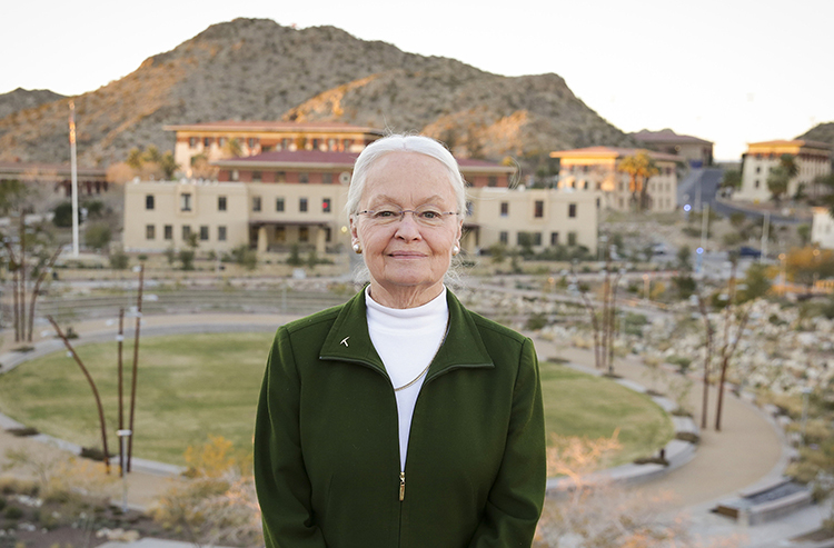 UTEP President Diana Natalicio has been recognized for successfully guiding the development of a wetlands park – an invaluable contribution to environmental conservation in the Paso del Norte region – by the El Paso/Trans-Pecos Audubon Society. She is a recipient of the organization's Conservation Award, which honors her support of Rio Bosque Wetlands Park, a 372-acre City of El Paso park managed by UTEP's Center for Environmental Resource Management. Photo: UTEP Communications