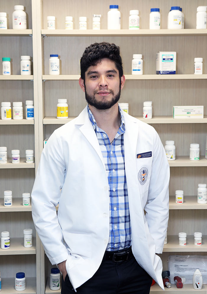 UTEP student-pharmacist William Campillo Terrazas has been awarded a scholarship from the Point Foundation (Point), the nation's largest scholarship-granting organization for lesbian, gay, bisexual, transgender and queer (LGBTQ) students. Photo: Laura Trejo / UTEP Communications