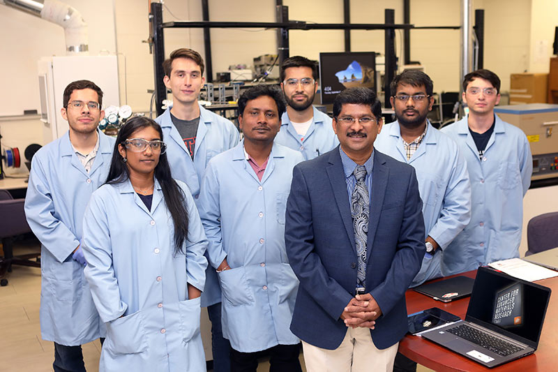 The University of Texas at El Paso was awarded $400,000 from the Nuclear Regulatory Commission (NRC) to facilitate graduate student success in nuclear science and engineering. Leading this effort is principal investigator Ramana Chintalapalle, Ph.D., UTEP professor of mechanical engineering, and Soheil Nazarian, Ph.D., co-investigator and professor of civil engineering. Photo: Laura Trejo / UTEP Communications
