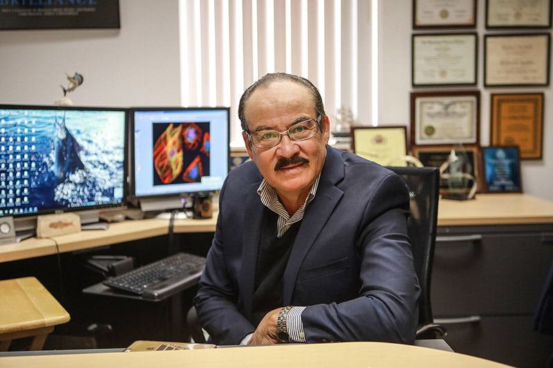 Renato Aguilera, Ph.D., professor of biological sciences at The University of Texas at El Paso, has been named the recipient of the 2019 Distinguished Scientist Award from the Society for Advancement of Chicanos/Hispanics and Native Americans in Science (SACNAS). Photo: Ivan Pierre Aguirre / UTEP Communications