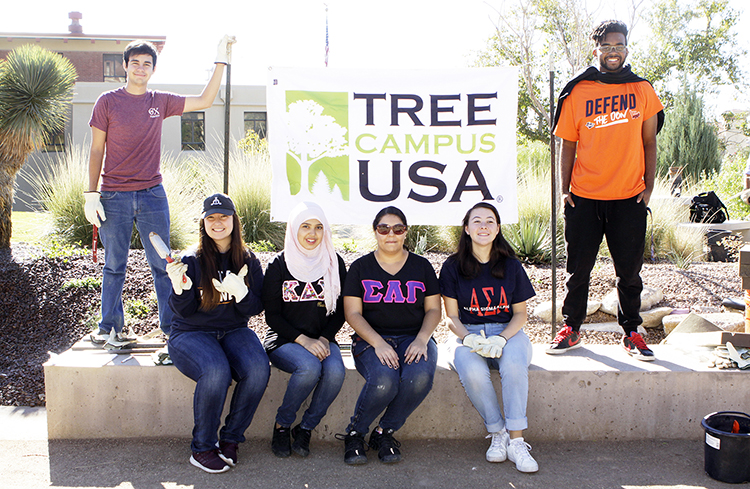 UTEP was recognized as a Tree Campus USA by the Arbor Day Foundation