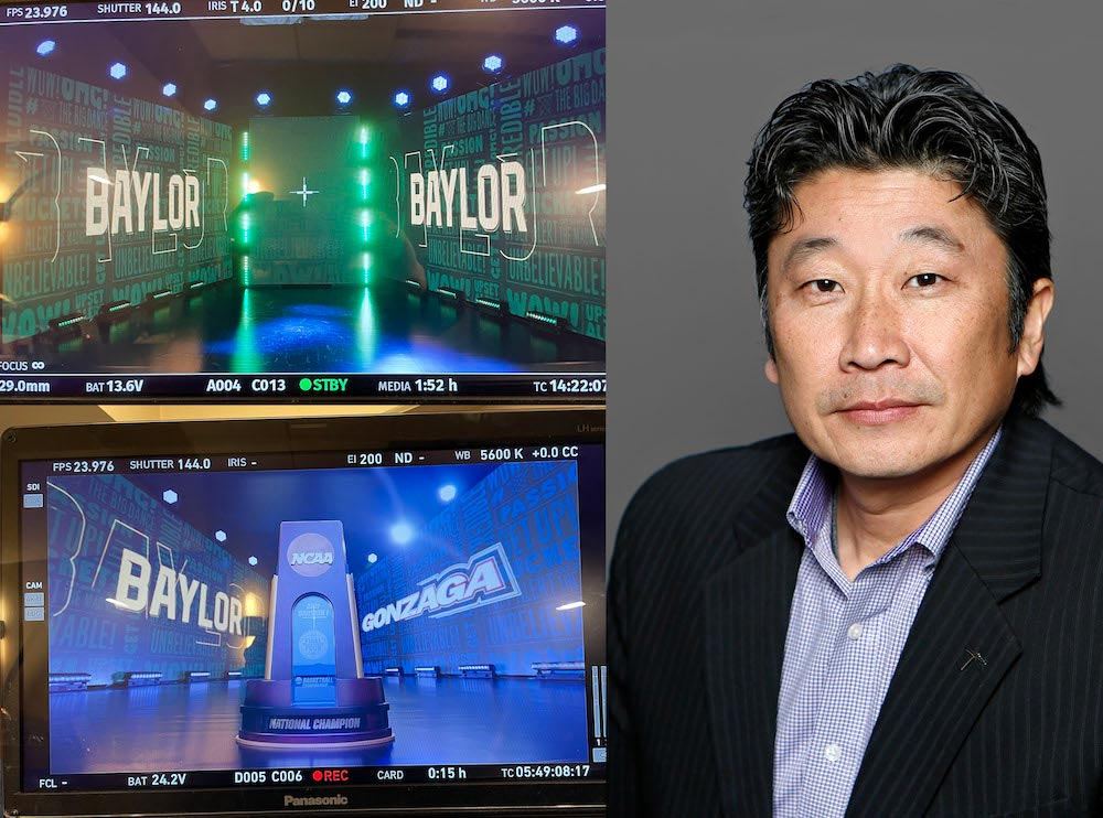 Hideaki Tsutsui, associate professor in the Department of Theatre and Dance, is an in-demand expert in the field of lighting design. He recently helped CBS Sports with its NCAA men's basketball Final Four coverage, and will help the network with an upcoming NASCAR event.
