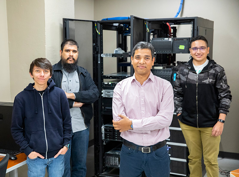 Researchers from The University of Texas at El Paso's Computer Science Department will have a hand in bolstering the safety of cybersecurity operations conducted by fossil fuel power generation plants thanks to a $171,000 grant from the U.S. Department of Energy. Photo by Ivan Pierre Aguirre / UTEP Communications
