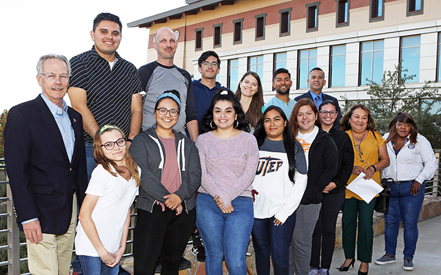 UTEP's Master of Social Work (MSW) students in the Drug and Recovery class are learning skills to help drug-dependent clients work toward recovery. Photo by Laura Trejo / UTEP Communications