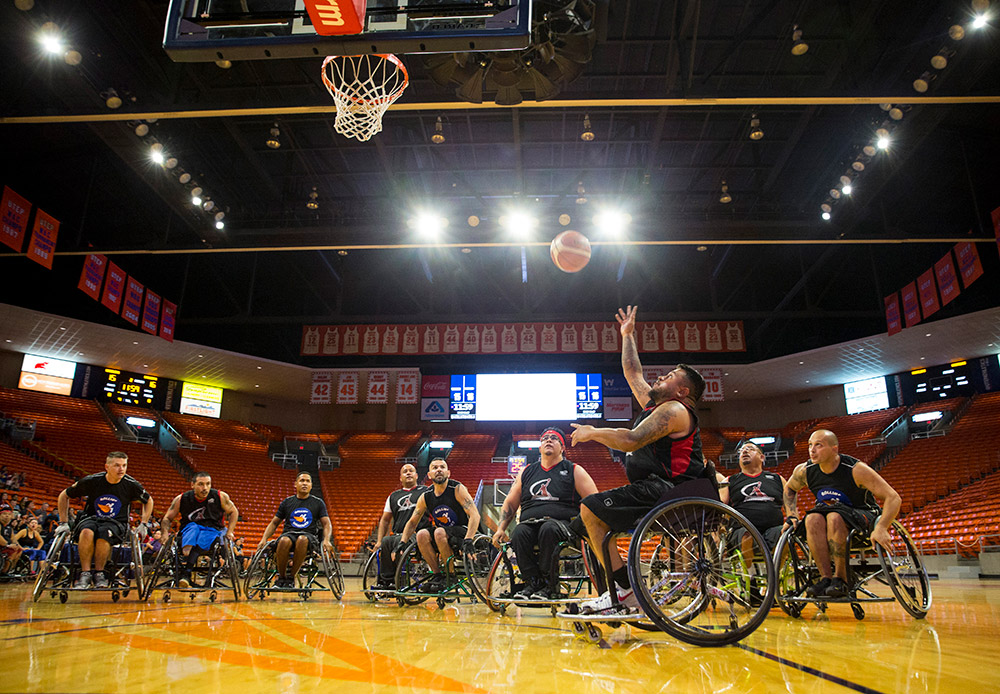 UTEP Ability Awareness Week wheelchair basketball game