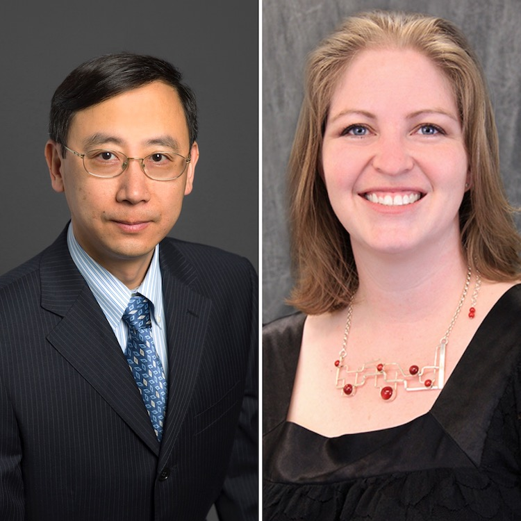 The University of Texas System Board of Regents honored Chuan (River) Xiao, Ph.D., associate professor of biochemistry; and Jessica Slade, Ph.D., assistant professor of instruction, teacher education, with one of the top teaching awards in Texas – The University of Texas System Board of Regents' 2020 Outstanding Teaching Award (ROTA). They are among 27 faculty members representing all 14 UT academic and health institutions to receive the award.