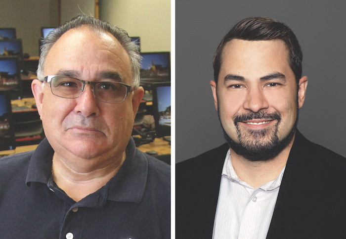 Victor Manjarrez Jr., Ed.D., left, associate director of UTEP's Center for Law and Human Behavior, and Mario Cano, Ph.D., assistant professor of criminal justice, will lead a UTEP team that will study the results of an international program offered through the U.S. Department of State to enhance U.S. security.