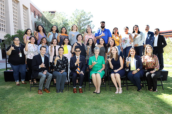 UTEP and community leaders unveiled the Miner Teacher Residency Program, a full-year teacher placement designed to boost the readiness of aspiring teachers to better serve diverse students throughout the El Paso region at an event on Sept. 26, 2019. Photo: Laura Trejo / UTEP Communications