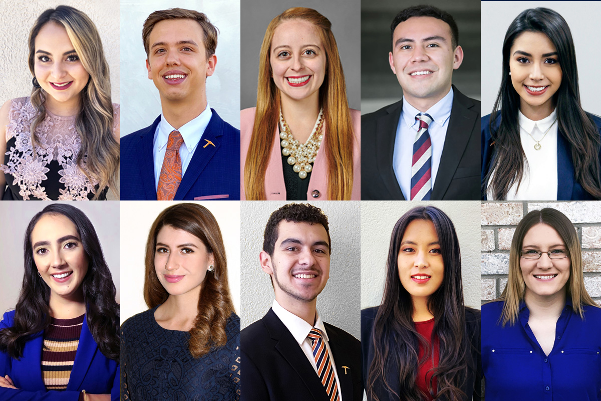 The Top Ten Seniors Awards are presented annually by The University of Texas at El Paso's Alumni Association to the most zealous and distinguished future alumni. Photos: University Communications