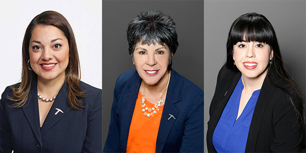 Azuri L. Gonzalez, lecturer and director of the Center for Community Engagement; Guillermina R. Solis, Ph.D., assistant professor of nursing; and Adriana Dominguez, Ph.D., assistant professor of theater and director of audience development; will be among the honorees at this Friday's 2019 McDonald's Hispanos Triunfadores.